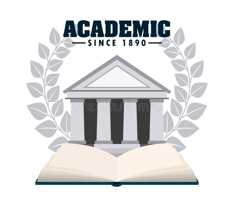 Academic design. Academic graphic design , vector illustration royalty free illustration