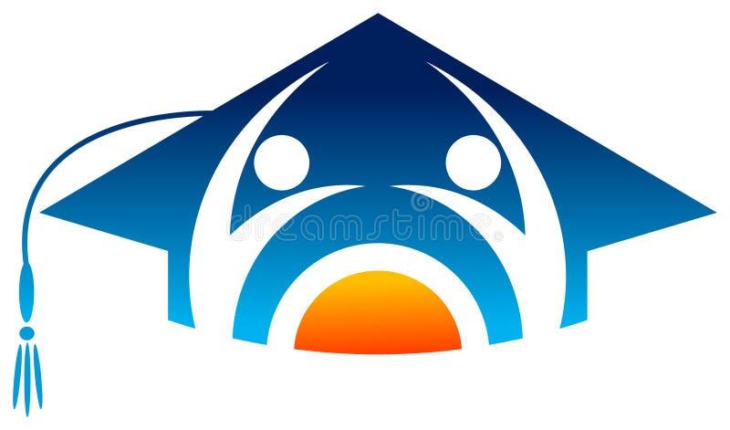 Academic emblem. Isolated illustrated academic emblem design stock illustration