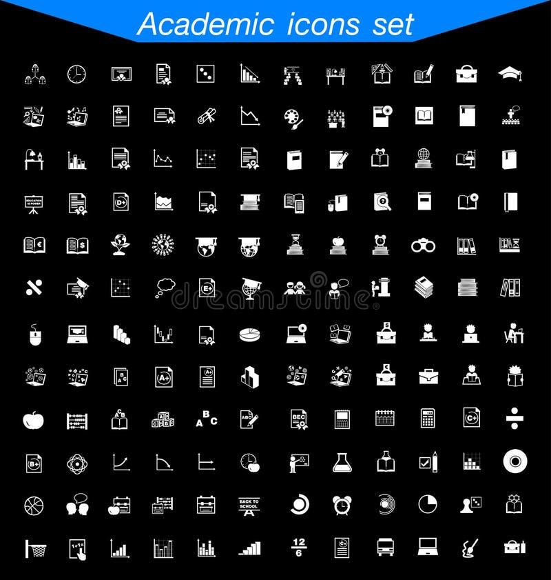 Academic icon set. Academic icon super set royalty free illustration