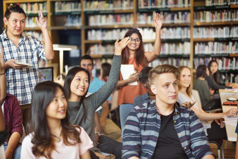 Academic Library College Unity Classmate Union Concept stock photo