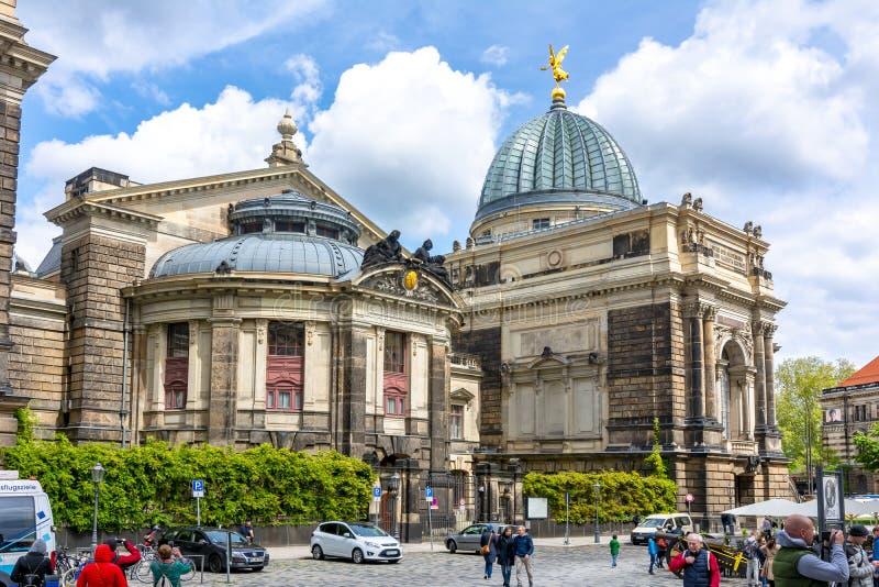Academie die van Beeldende kunsten, Dresden, Duitsland bouwen royalty-vrije stock foto's