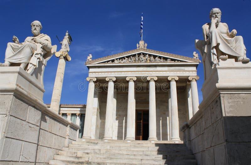 Academie van Athene. royalty-vrije stock fotografie