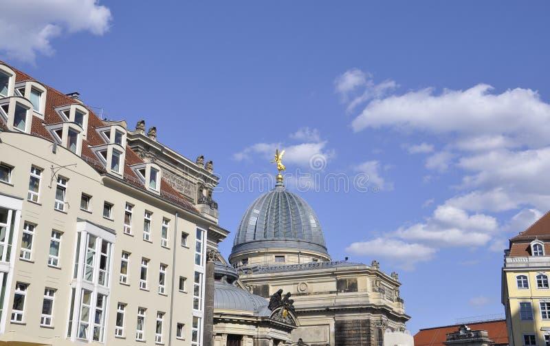 Academie van Beeldende kunsten Cupole van Dresden in Duitsland royalty-vrije stock afbeelding
