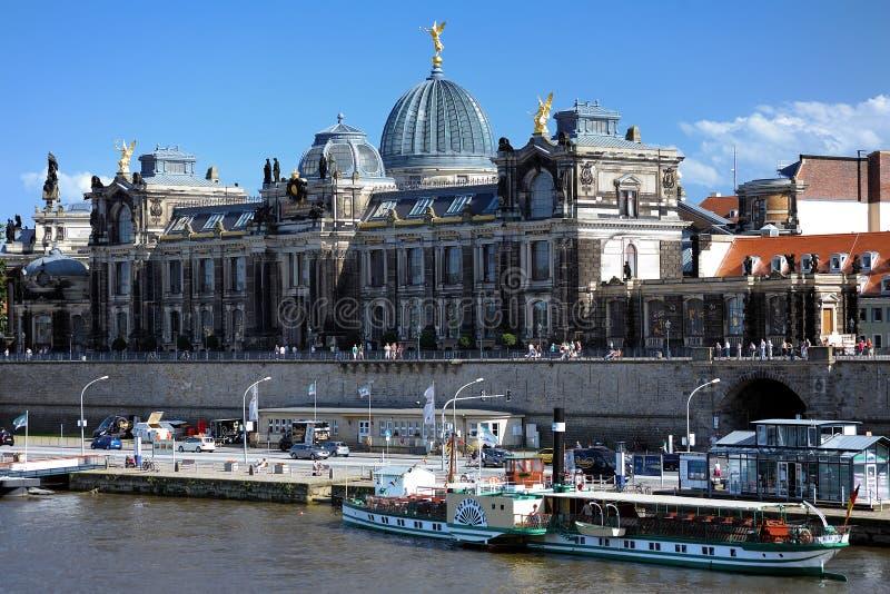 Academie van Beeldende kunsten in Dresden, Duitsland royalty-vrije stock foto's