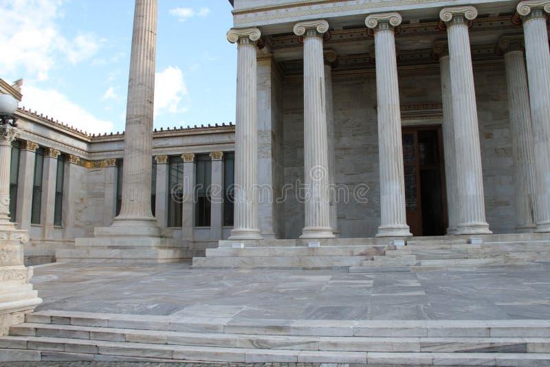 Download Academie Van Kunst, Nationale Bibliotheek, Bank Van Griekenland, Athene, Greec Stock Foto - Afbeelding bestaande uit plato, grieks: 107700258
