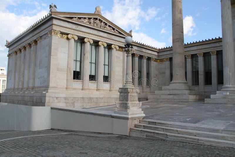 Download Academie Van Kunst, Nationale Bibliotheek, Bank Van Griekenland, Athene, Greec Stock Foto - Afbeelding bestaande uit gebouwen, bibliotheek: 107700266