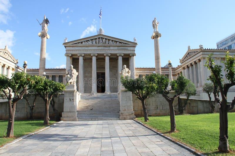 Download Academie Van Kunst, Nationale Bibliotheek, Bank Van Griekenland, Athene, Greec Stock Foto - Afbeelding bestaande uit bibliotheek, grieks: 107700494