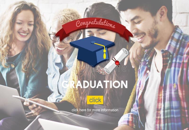 Academisch de Universiteitsconcept van het graduatie Gediplomeerd Onderwijs royalty-vrije stock afbeeldingen