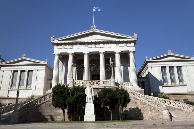 The Academy of Athens. At Athens city, Greece royalty free stock images