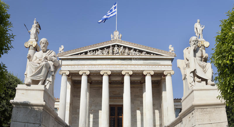 The Academy of Athens. At Athens city, Greece royalty free stock image