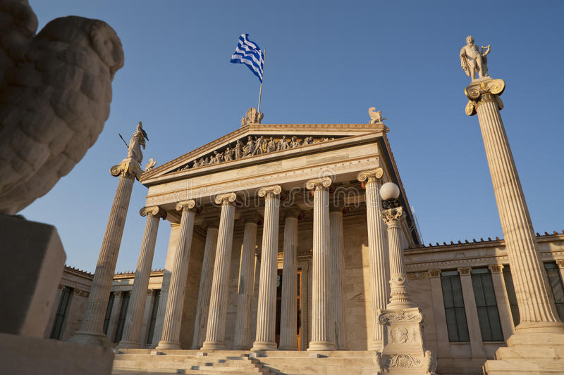 The Academy of Athens. Is Greece's national academy and one of the main landmarks of Athens royalty free stock image