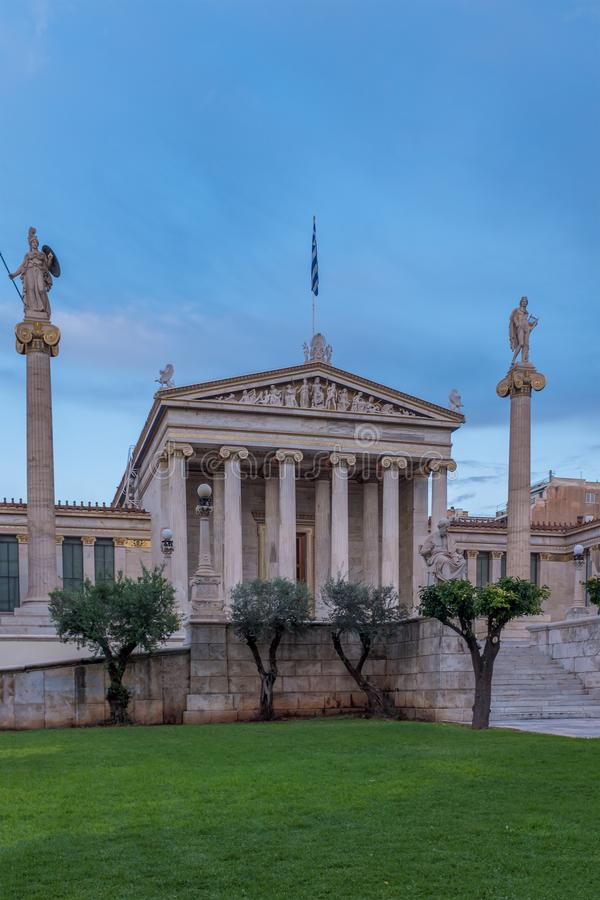 The Academy of Athens. Academy of Athens in Greece royalty free stock photo