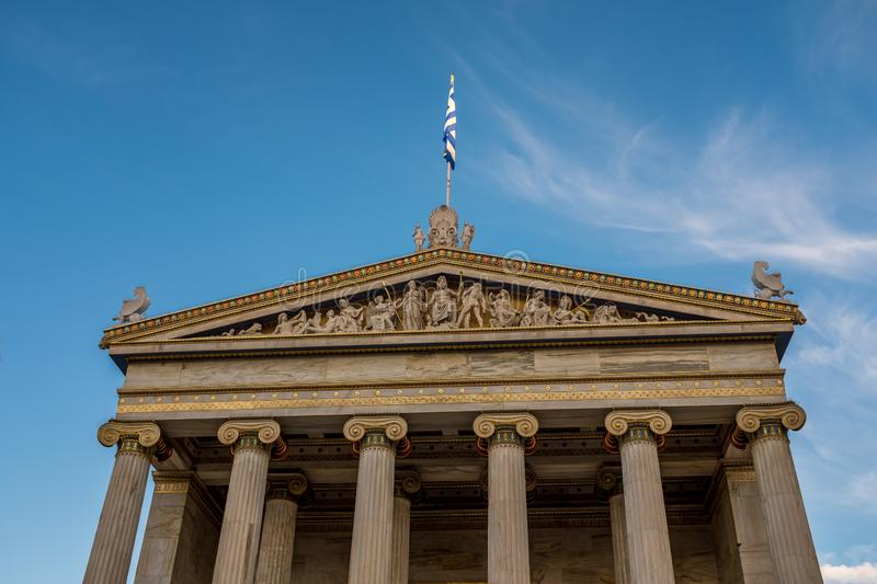 The Academy of Athens. Academy of Athens in Greece royalty free stock photography