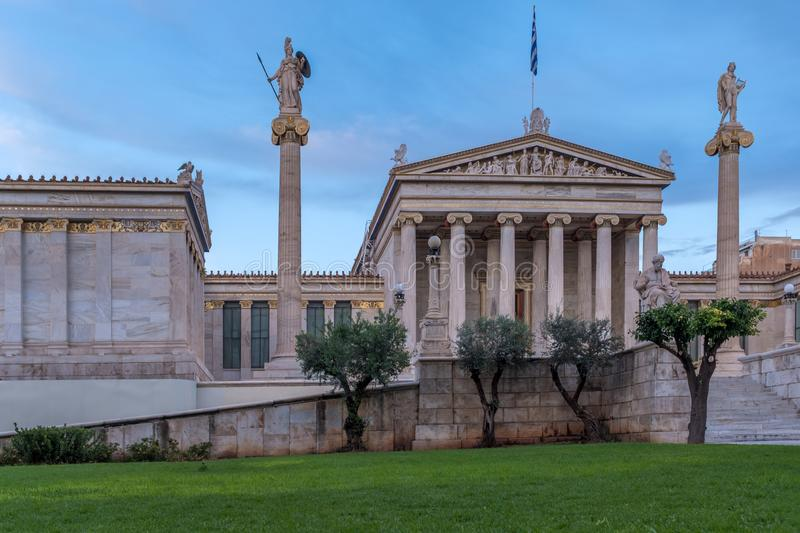 The Academy of Athens. Academy of Athens in Greece stock image
