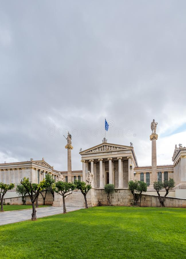 The Academy of Athens. Academy of Athens in Greece stock photography
