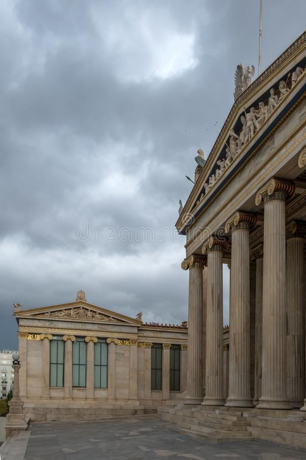 The Academy of Athens. Academy of Athens in Greece stock photos