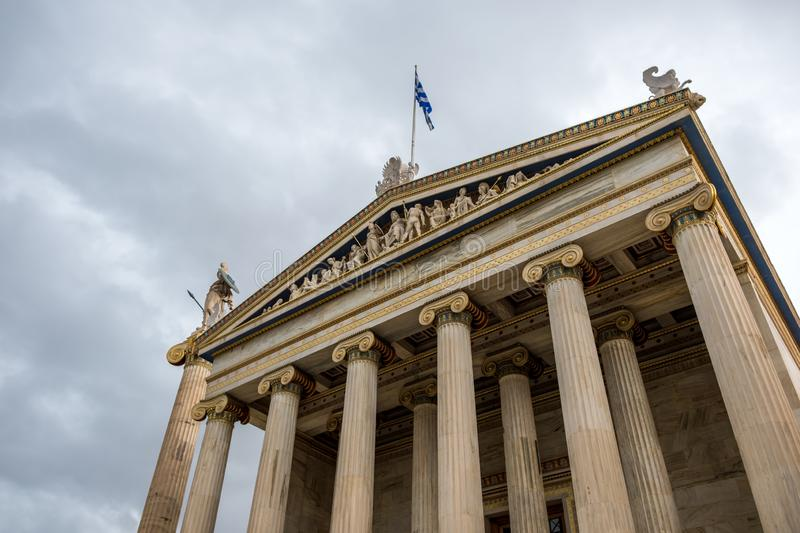 The Academy of Athens. Academy of Athens in Greece stock photo