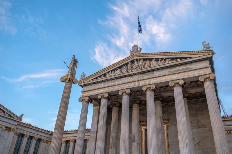 The Academy of Athens. Academy of Athens in Greece royalty free stock image