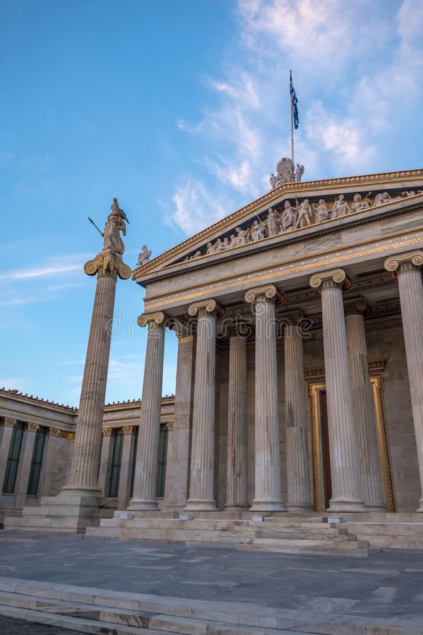 The Academy of Athens. Academy of Athens in Greece stock images