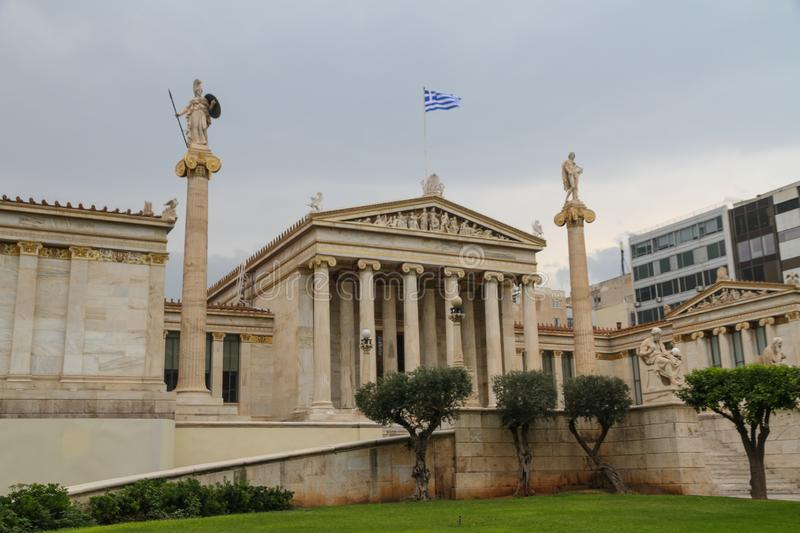 Academy of Athens building royalty free stock photography
