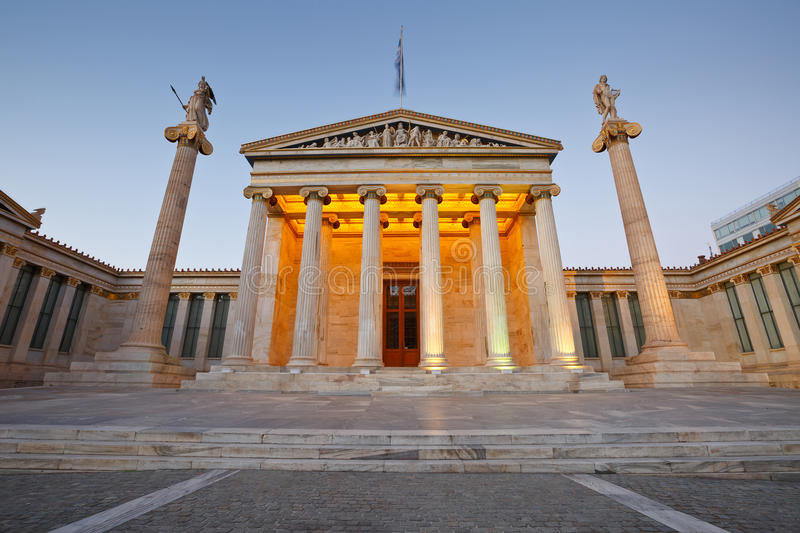 Academy of Athens. stock photography