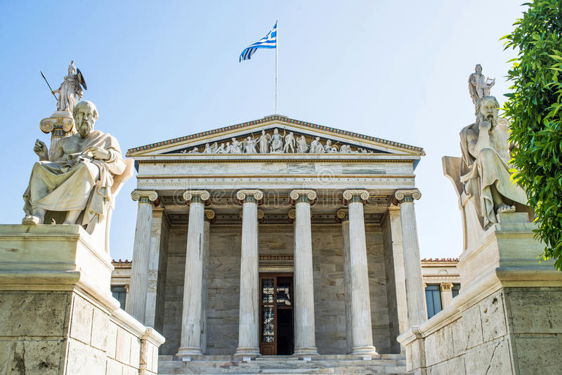 Academy of Athens. In Greece royalty free stock images