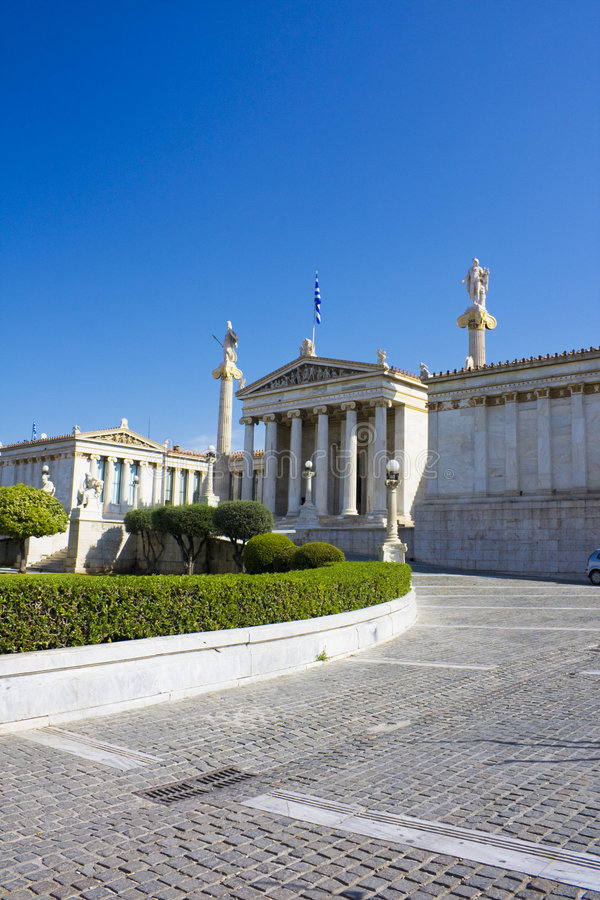 Academy of Athens, Greece. Image of the ancient Academy of Athens, Greece stock photo