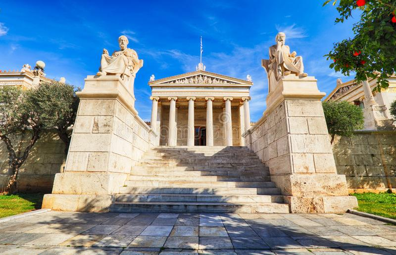 Academy of Athens, Greece. At day stock photography