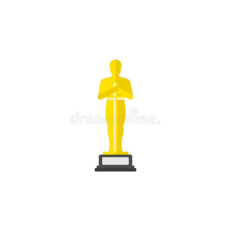 Academy award icon in flat style. vector illustration