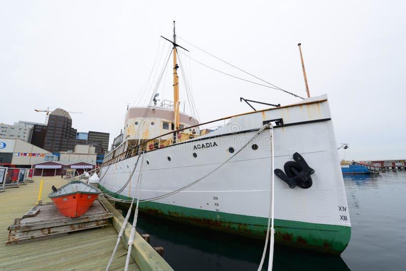 Acadia CSS, Halifax, Новая Шотландия, Канада стоковая фотография rf