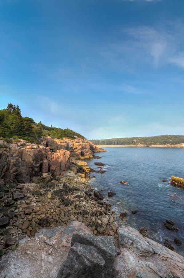 Acadia National Park Coastline Up to Sand Beach royalty free stock image