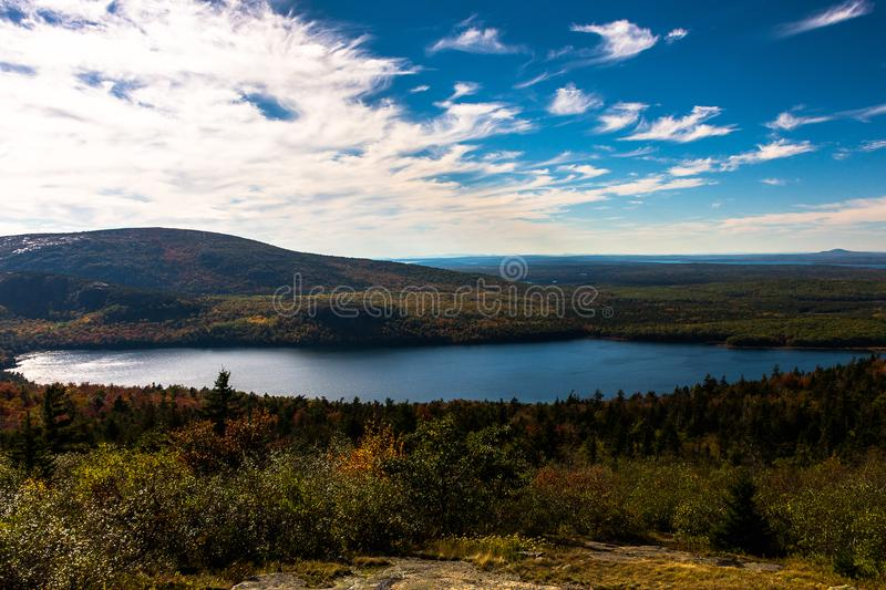 Blue sky in the mountain royalty free stock photos