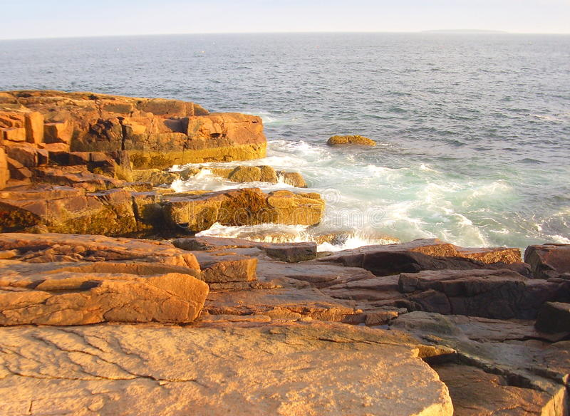 Acadia-Nationalparkseeküste stockfotos