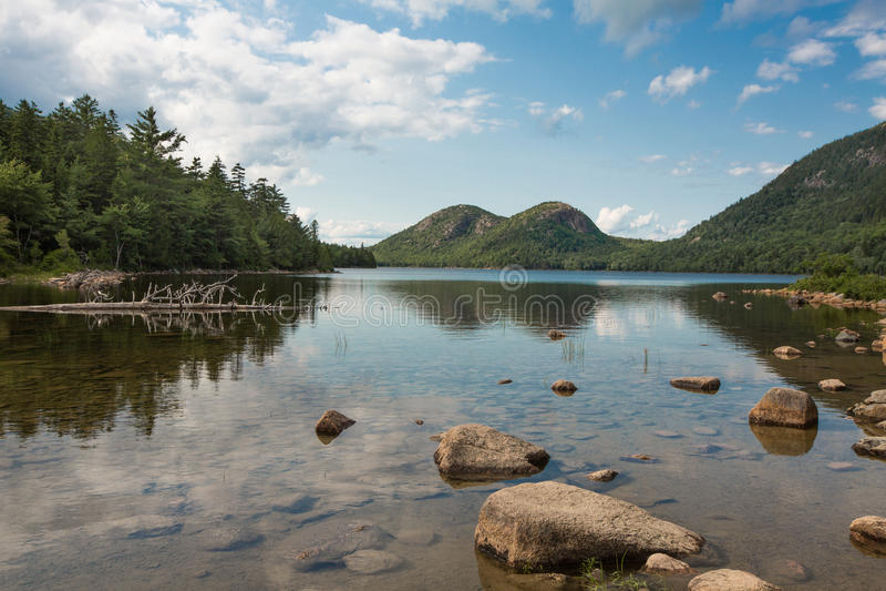 Acadia parco nazionale, Maine dello stagno della Giordania immagine stock libera da diritti