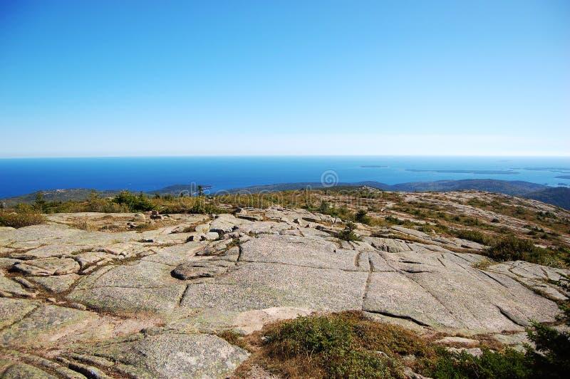 acadia park narodowy skały morze zdjęcia royalty free