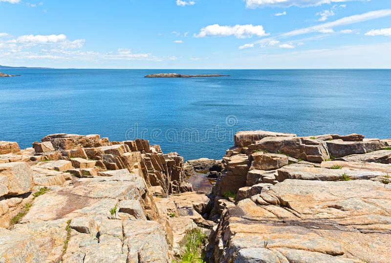 Acadia parka narodowego krajobraz, Maine, usa fotografia royalty free