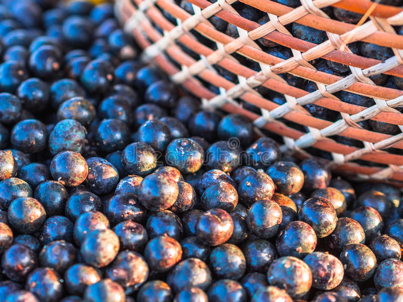 Acai in baskets royalty free stock photography