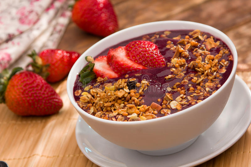 Acai fruit Amazon in the bowl stock photography