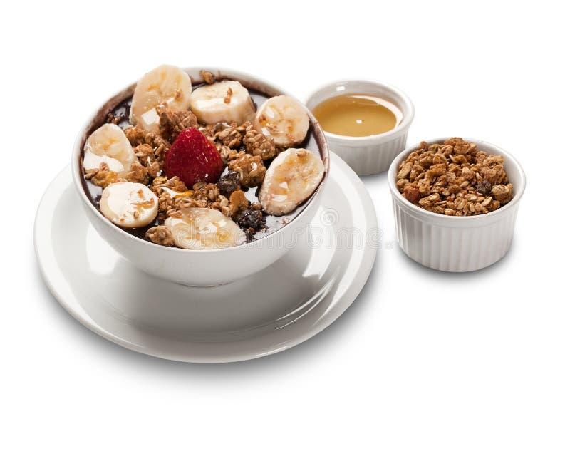 Acai fruit Amazon in the bowl royalty free stock photo