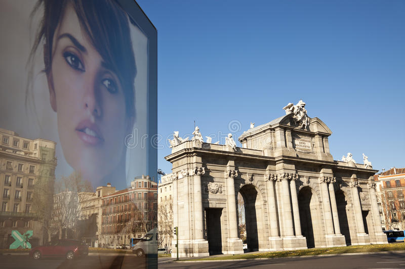 Download Acala Arch And Penelope Cruz On Poster Editorial Image - Image: 20614855