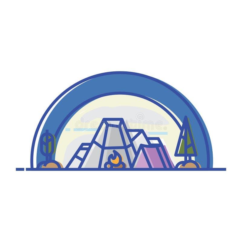 acampamento ilustração royalty free