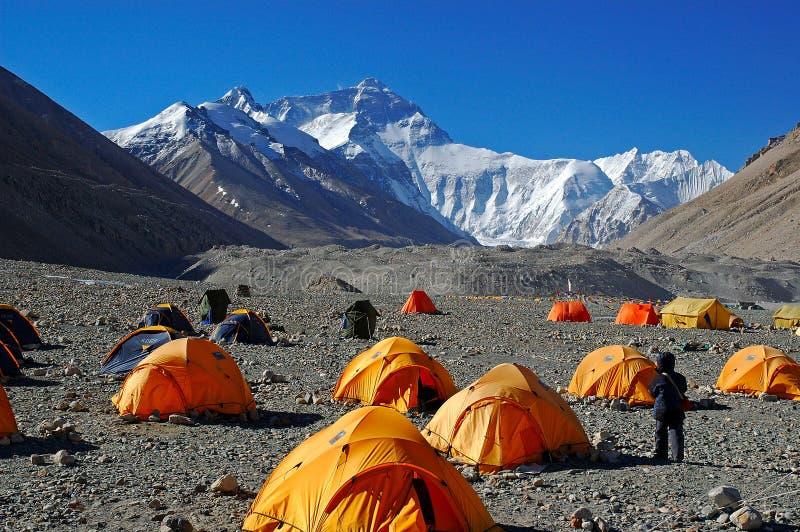 Acampamento baixo de Everest fotografia de stock