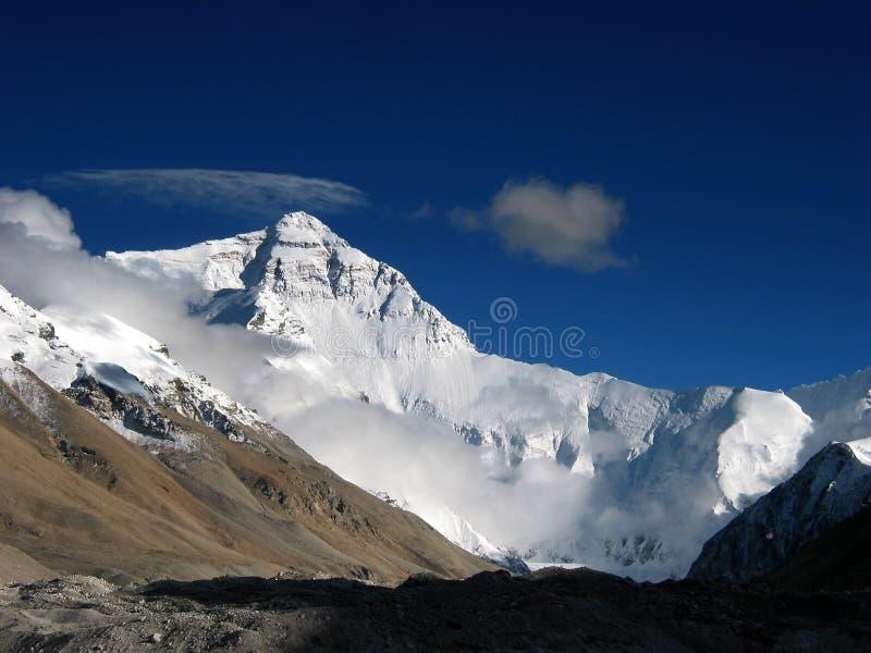 Acampamento baixo em Mt. Everest fotos de stock royalty free