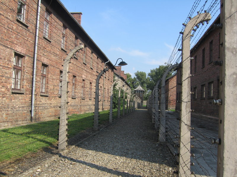 Acampamento de Auschwitz imagens de stock