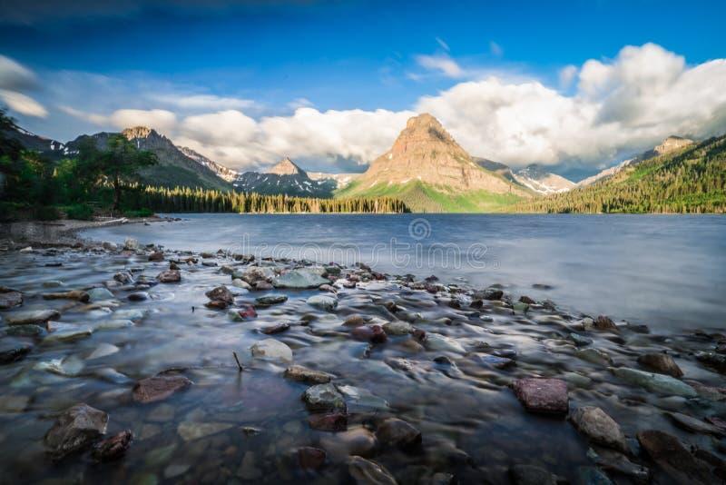 Acampamento de duas medicinas do parque nacional de geleira imagem de stock