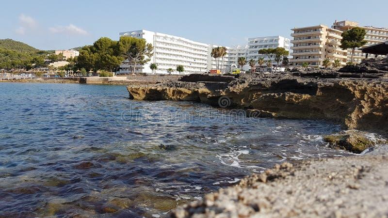 Acampamento de março Mallorca do hotel fotografia de stock