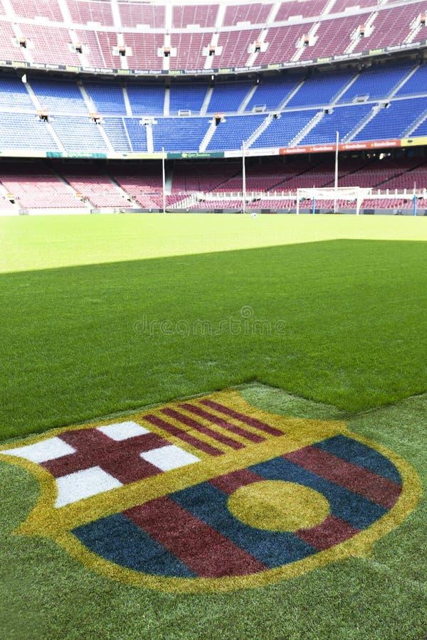 Acampamento de Nou - detalhe do estádio de Fc Barcelona foto de stock