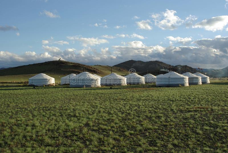 Acampamento de Yurt em Mongolia imagem de stock