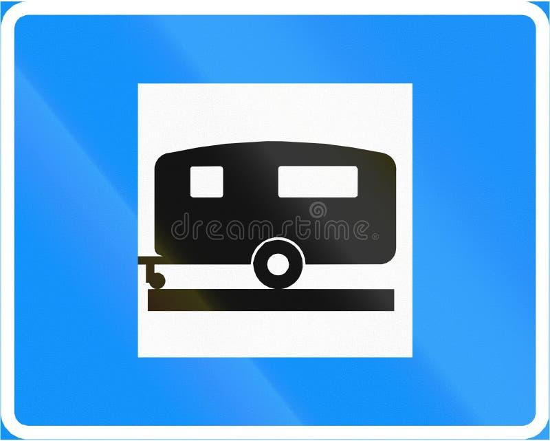 Acampamento e local da caravana em Finlandia ilustração do vetor