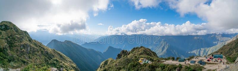 Acampamento em Inca Trail imagem de stock